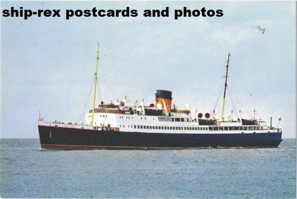 KING ORRY (1946, Isle Of Man Steam Packet) postcard (a2)